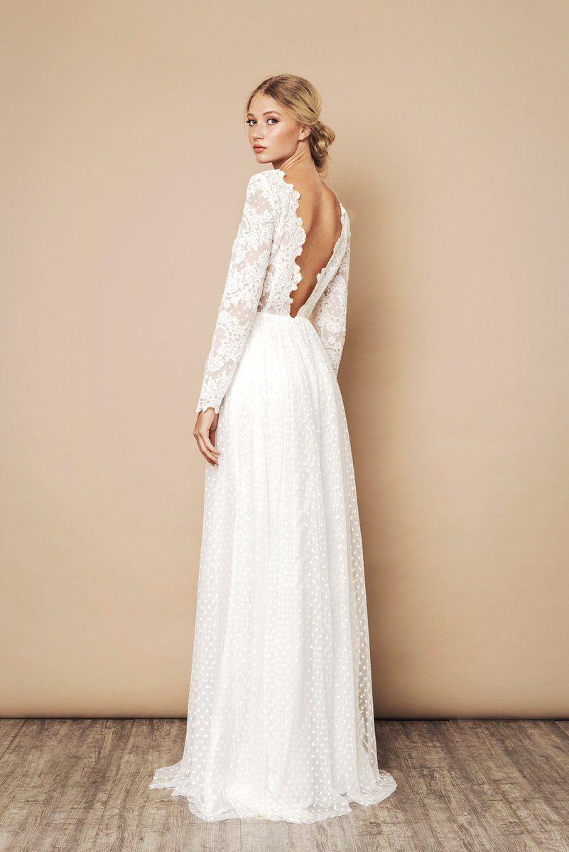 Vackra strandbröllopsklänningar