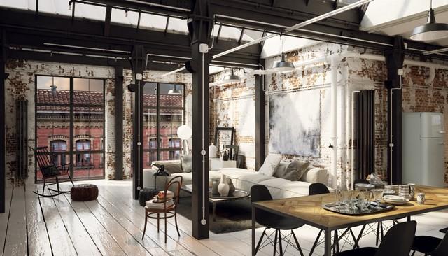 Vad är ett hem i industriell stil