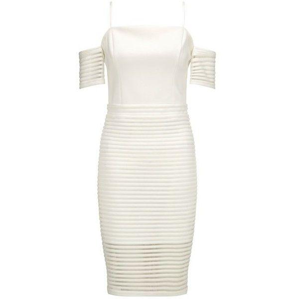 Vit Cold Shoulder Dress Idéer