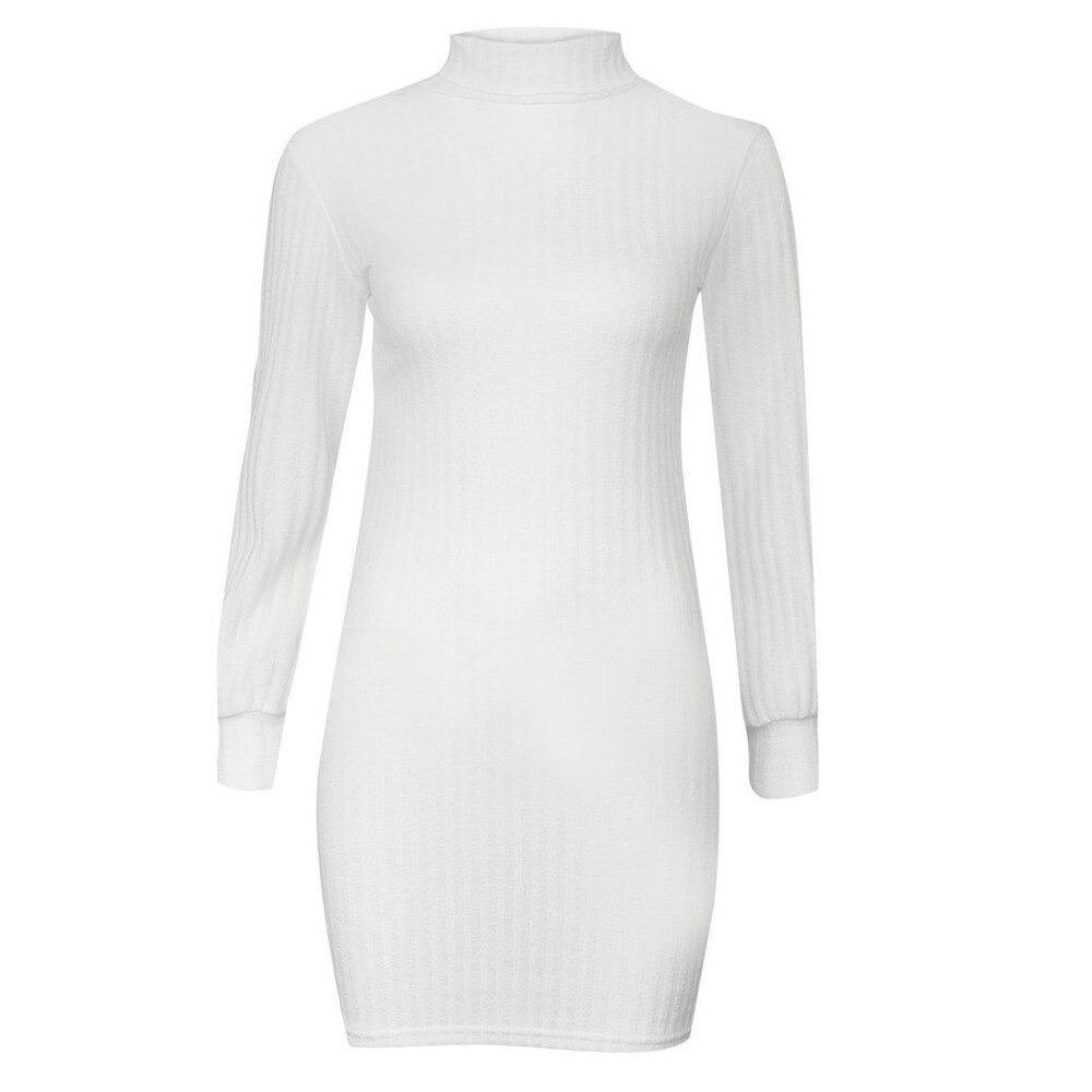 Vita idéer för klänning med hög hals