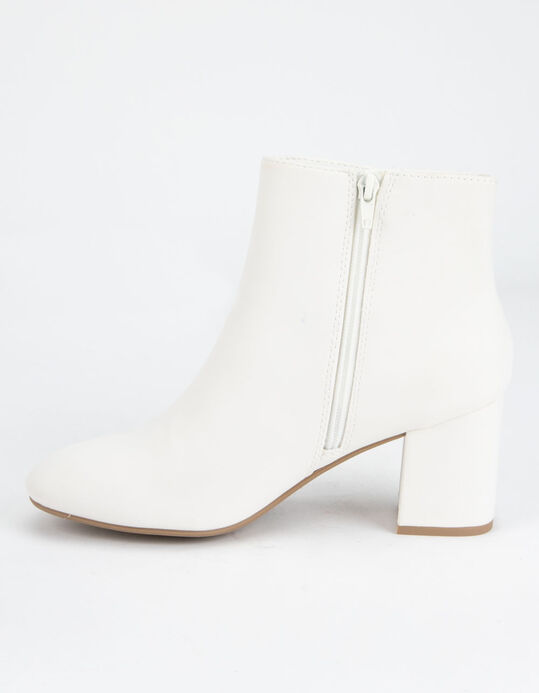 DELICIOUS Clean Ankle Stacked White Damskor - VIT.